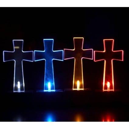 Solar Grave Light Cross In Four Colors