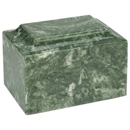Emerald Green Marble Cremation Urn