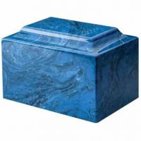 Mystic Blue Cultured Marble Urn