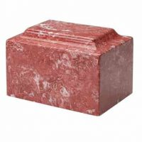 Rose Red Marble Cremation Urn