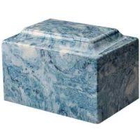 Sky Blue Marble Cremation Urn
