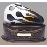 Born to Ride Charcoal White Motorcycle Tank Urn