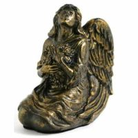 Bronze Finish Angel Baby Urn