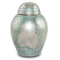 Blue Teddy Bear Urn