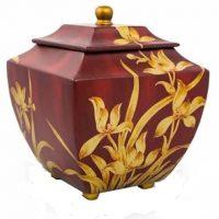 Burgundy Orchid Urn