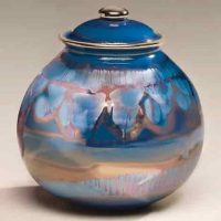 Corona Galaxy Blue Ceramic Urns for Ashes