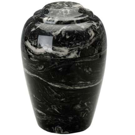 Ebony Grecian Marble Cremation Urn