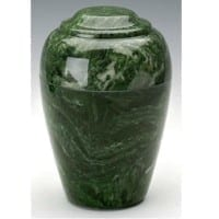 Emerald Green Grecian Marble Cremation Urn