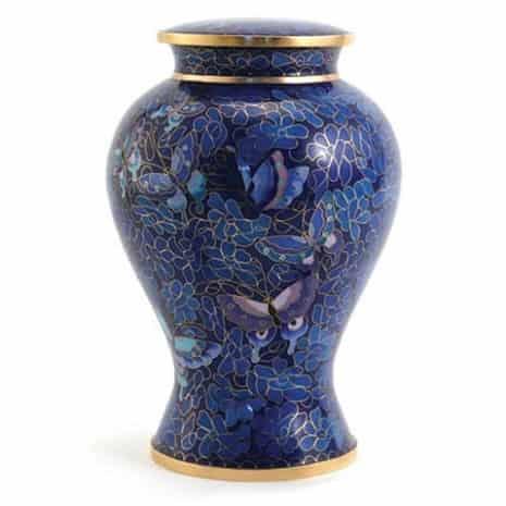Blue Etienne Butterfly Urn