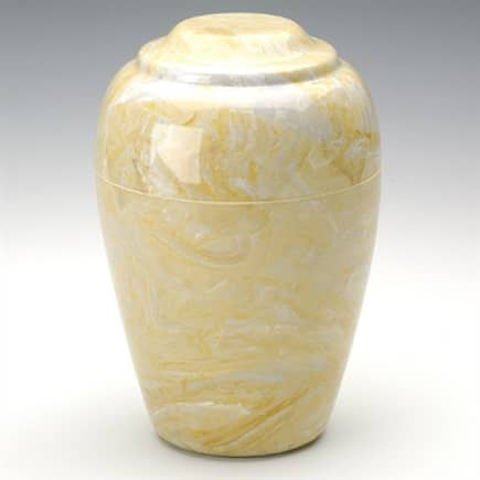 Gold Grecian Marble Cremation Urn