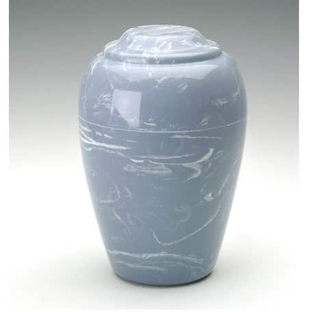 Wedgwood Blue Grecian Marble Urn