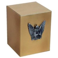 Angel Urn Bronze Cube