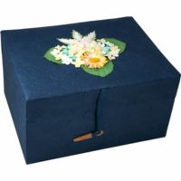 Chest Blue Urns for Ashes Bio Urn