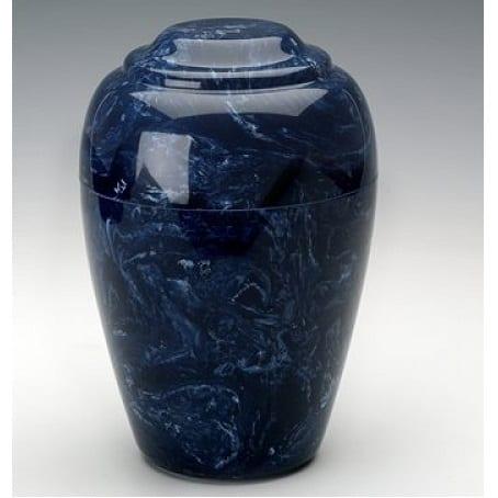 Navy Blue Grecian Marble Cremation Urn