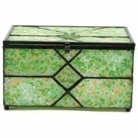 Memory Chest Glass Urn Meadow
