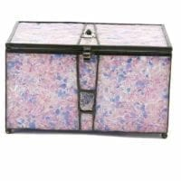 Purple Urn Orchid Memory Chest Glass