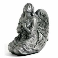 Pewter Finish Angel Baby Urns