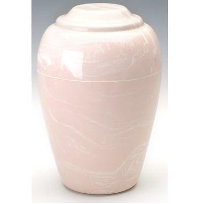 Pink Grecian Marble Urn