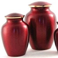 Classic Crimson Small Urn 2 Sizes