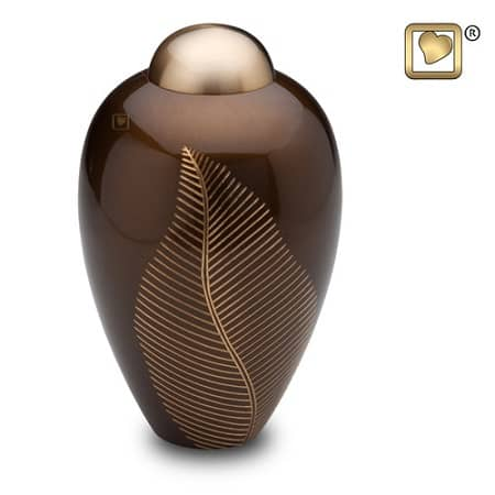Bronze Leaf Cremation Urn