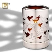 Illuminating Doves Candle Urn