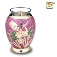 Lilac Rose Candle Urn