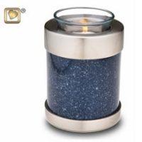 Speckled Indigo Candle Urn