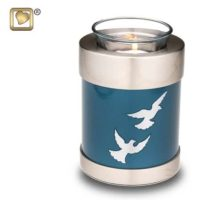Flying Doves Candle Tealight Urn
