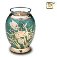 Emerald Rose Candle Urn
