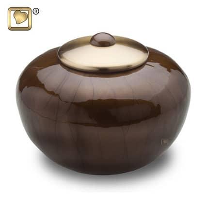 Round Simplicity Cremation Urn Bronze