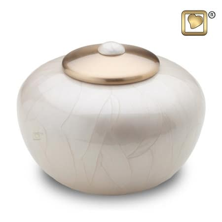 Round Simplicity Pearl Cremation Urns