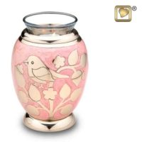 Silver Blessings Birds Candle Urn