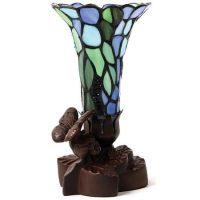 Tiffany Style Blue Keepsake Lamp Urn