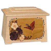 Butterfly Urn Maple Wood