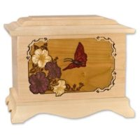 Butterfly Maple Wood Ambassador Urn