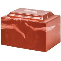 Rich Red Marble Urn