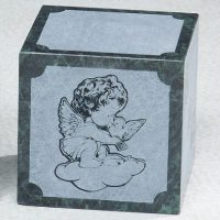 Angel Infant Green Marble Urn