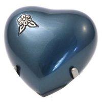 Artisan Indigo Heart Keepsake Urn