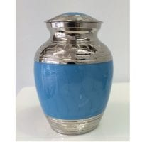 Light Blue Enamel Urn