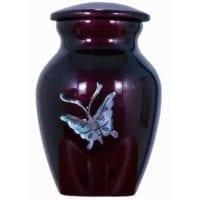 Butterfly Keepsake Urn Mother of Pearl
