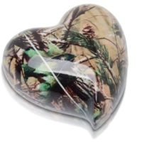 Camouflage Heart Keepsake Urn