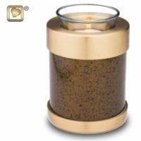Speckled Bronze Candle Urn