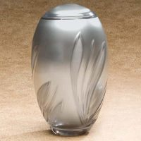 Crystal Bloom Glass Urn
