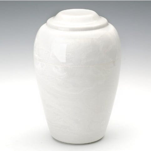 Small White Riley Marble Urn