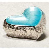 Light Blue Heart Keepsake Urn