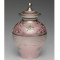 Pink Butterflies Small Urn