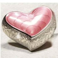 Pink Heart Urn