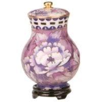 Purple Cloisonne Keepsake Urn