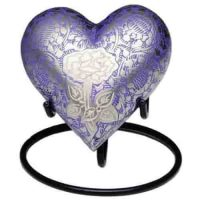 Purple Rose Heart Keepsake