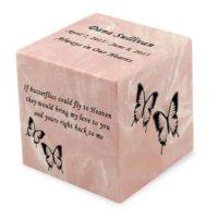 Pink Baby Butterflies Urn
